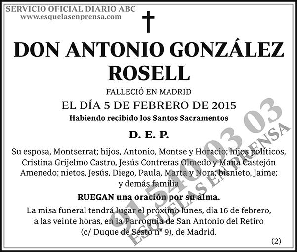 Antonio González Rosell